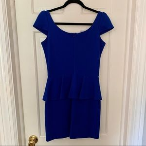 Amanda Uprichard Dresses - Royal Blue Peplum Dress by Amanda Uprichard